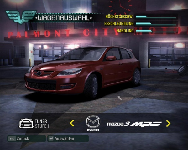 Need For Speed Carbon Mazdaspeed3 Mazda 3 Mps